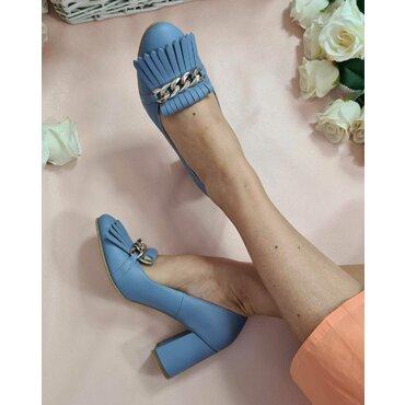 Pantofi bleo din piele naturala Tasha