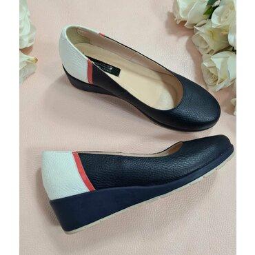 Pantofi bleumarin din piele naturala l2588
