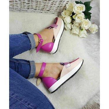 Pantofi casual color din piele naturala Eda