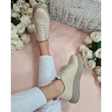 Pantofi casual sport bej Alfi