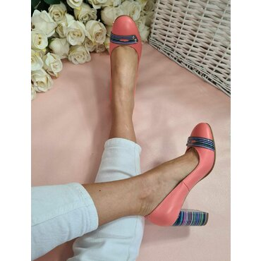 Pantofi corai din piele naturala Spring