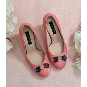 Pantofi corai Joli cu funda