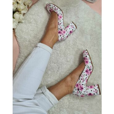 Pantofi dama imprimeu floral Merci