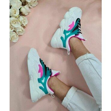 Pantofi dama sport casual albi Kay