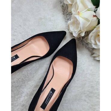 Pantofi de dama din camoscio negru Samira
