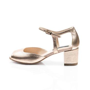 Pantofi decupati de dama piele aramie Mini