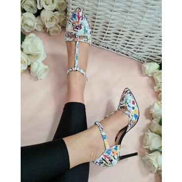 Pantofi decupati imprimeu color Denisa