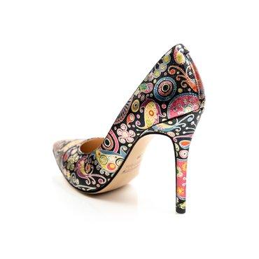 Pantofi eleganti piele imprimeu Eva