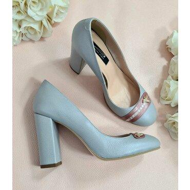 Pantofi gri din piele naturala Spring