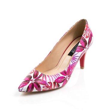 Pantofi imprimeu floral din piele naturala Good