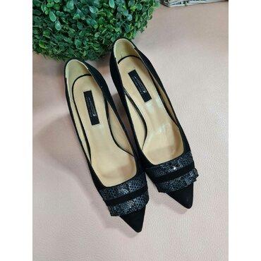 Pantofi negri cu franjuri L105