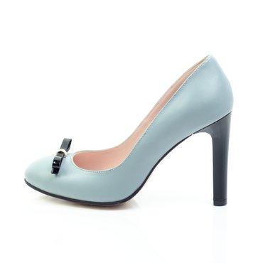 Pantofi piele bleu Joli cu fundita