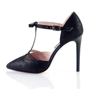Pantofi piele intoarsa stralucitoare Ofelia