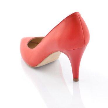 Pantofi rosii din piele naturala Good