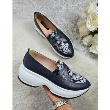 Pantofi sport din piele naturala bleomarin Liv