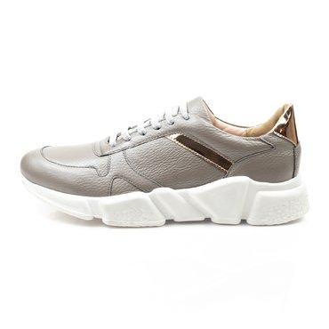 Pantofi sport grej din piele naturala Basi