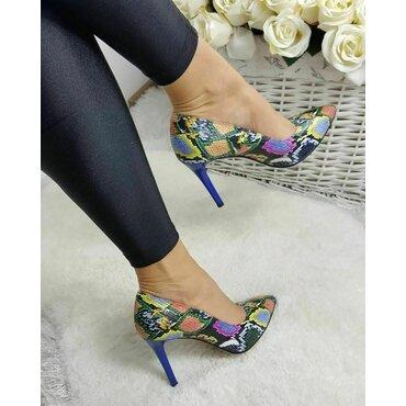Pantofi stiletto imprimeu color Trend 2