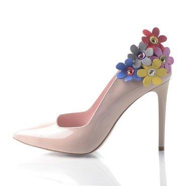 Pantofi stiletto trend lac nude Maya
