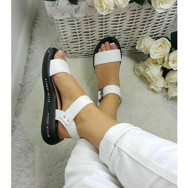 Sandale dama albe Sonia