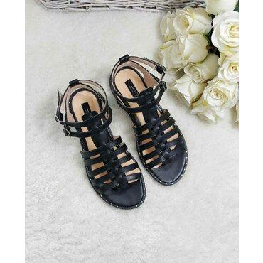 Sandale dama negre Linda