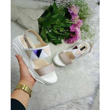 Sandale de dama albe Karina