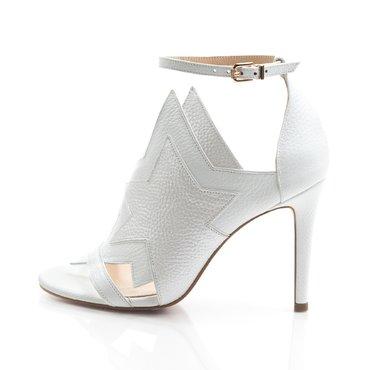 Sandale de dama Party piele alba
