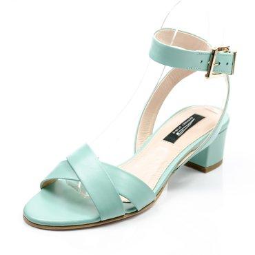 Sandale de dama piele verde pastel Sacha