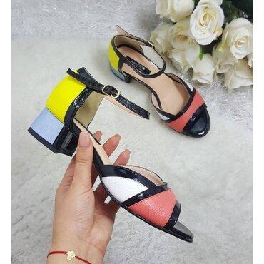 Sandale de dama piele color Abby