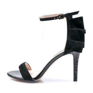 Sandale de ocazie piele intoarsa neagra Volare