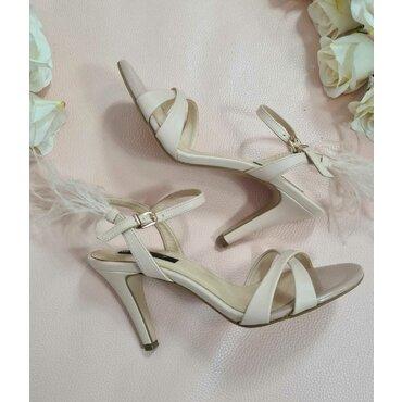 Sandale elegante de dama nud roze L2586