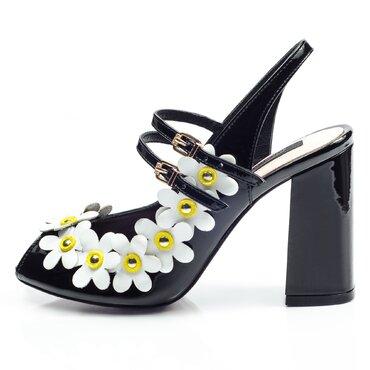 Sandale negre de dama Mary