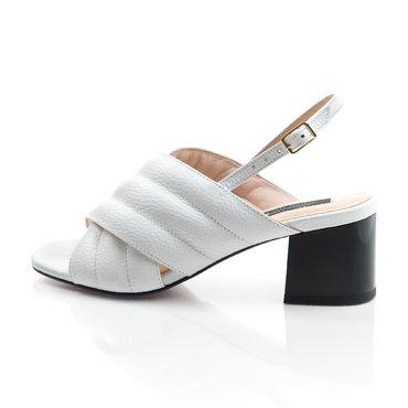 Sandale piele alba Rebeca