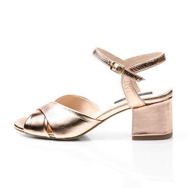Sandale piele roze lucios Malvina