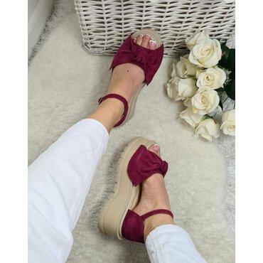 Sandale platforma mov Masha