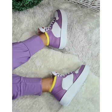 Sneakers din piele naturala mov Ryo