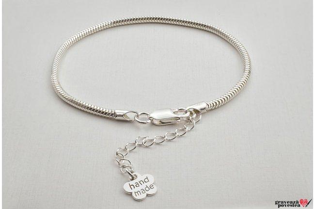Bratara charms supliment Argint 925 rodiat