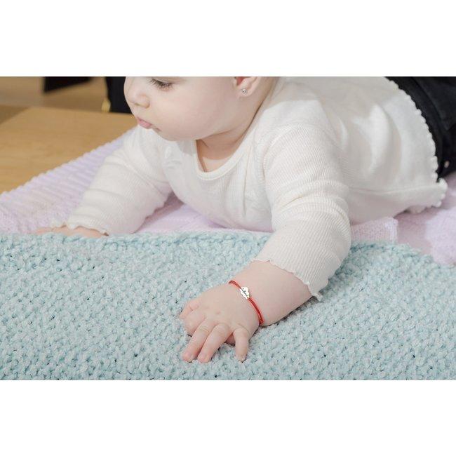 Bratara snur pentru bebe norisor 10 mm personalizat gravura text Aur 14K