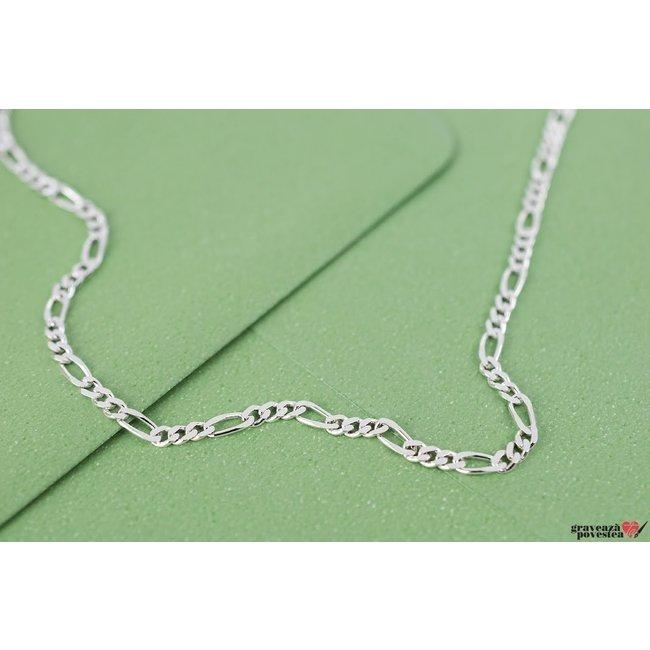 Lant supliment Figaro Argint 925 rodiat (50 cm - 55 cm - 60 cm)
