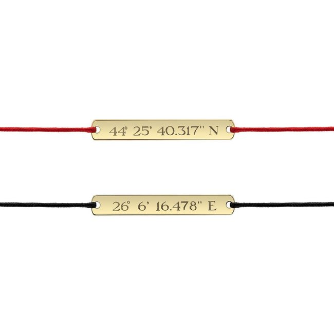Bratari snur cuplu placuta 31 mm personalizate gravura text Argint 925 rodiat