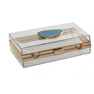 Agata Cutie bijuterii, Sticla, Transparent