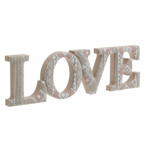 Amor Decoratiune LOVE, Lemn, Bej