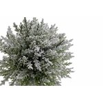 Annis Copac artificial cu zapada si Led in ghiveci, Textil, Verde