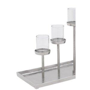 Azuric Suport lumanari, Aluminiu, Argintiu