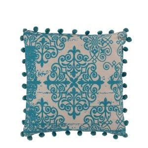 Baroque Perna decorativa, Textil, Turcoaz
