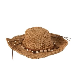 Beach Hat Palarie soare, Lemn, Maro