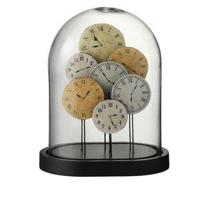 Bell Clock Decoratiune dom mica, Sticla, Maro