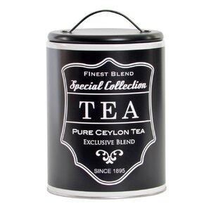 Black Borcan ceai cu capac, Metal, Negru