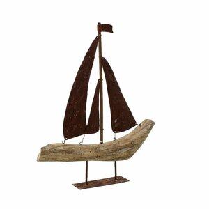 Boat Decoratiune barca, Lemn, Maro
