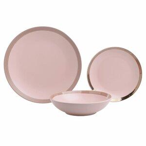 Brizo Set vesela 18 piese, Ceramica, Roz