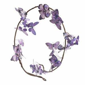 Butterfly Ghirlanda cu fluturi, Textil, Mov
